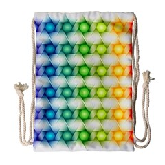 Background Colorful Geometric Drawstring Bag (large)