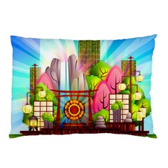 Zen Garden Japanese Nature Garden Pillow Case