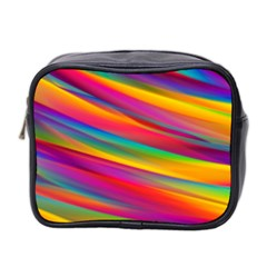 Colorful Background Mini Toiletries Bag 2 Side