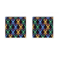 Pattern Background Bright Blue Cufflinks (square)