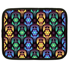 Pattern Background Bright Blue Netbook Case (large) by Nexatart