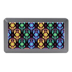 Pattern Background Bright Blue Memory Card Reader (mini) by Nexatart