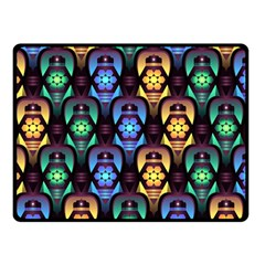 Pattern Background Bright Blue Double Sided Fleece Blanket (small)  by Nexatart
