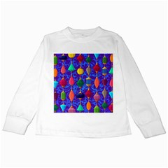 Colorful Background Stones Jewels Kids Long Sleeve T-shirts