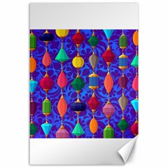 Colorful Background Stones Jewels Canvas 24  X 36