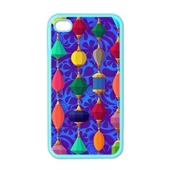 Colorful Background Stones Jewels Apple Iphone 4 Case (color) by Nexatart