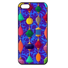 Colorful Background Stones Jewels Apple Iphone 5 Seamless Case (black)