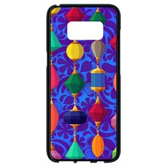 Colorful Background Stones Jewels Samsung Galaxy S8 Black Seamless Case by Nexatart