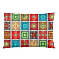 Tiles Pattern Background Colorful Pillow Case
