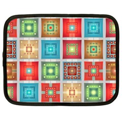 Tiles Pattern Background Colorful Netbook Case (xxl)