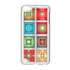 Tiles Pattern Background Colorful Apple Ipod Touch 5 Case (white) by Nexatart