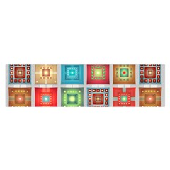Tiles Pattern Background Colorful Satin Scarf (oblong)