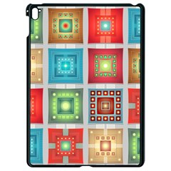 Tiles Pattern Background Colorful Apple Ipad Pro 9 7   Black Seamless Case