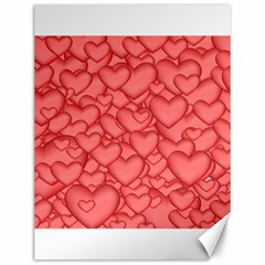 Background Hearts Love Canvas 12  X 16   by Nexatart