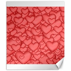 Background Hearts Love Canvas 20  X 24