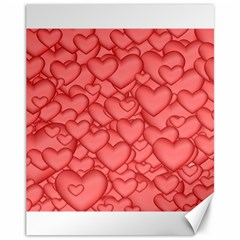 Background Hearts Love Canvas 11  X 14