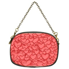 Background Hearts Love Chain Purses (two Sides)