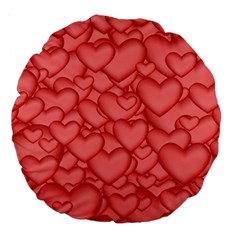 Background Hearts Love Large 18  Premium Round Cushions by Nexatart