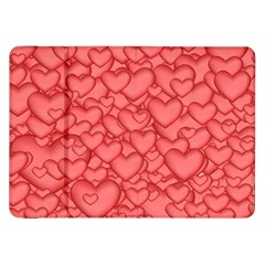 Background Hearts Love Samsung Galaxy Tab 8 9  P7300 Flip Case by Nexatart