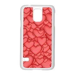 Background Hearts Love Samsung Galaxy S5 Case (white)