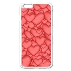 Background Hearts Love Apple Iphone 6 Plus/6s Plus Enamel White Case by Nexatart