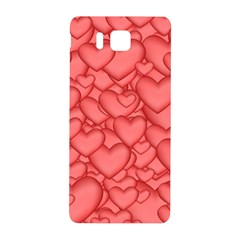 Background Hearts Love Samsung Galaxy Alpha Hardshell Back Case by Nexatart