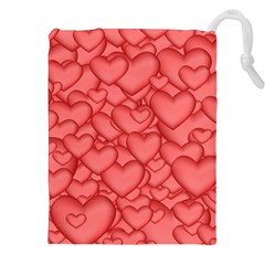 Background Hearts Love Drawstring Pouches (xxl) by Nexatart