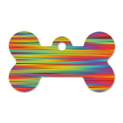 Colorful Background Dog Tag Bone (one Side)
