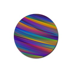Colorful Background Rubber Round Coaster (4 Pack)  by Nexatart