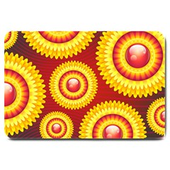 Floral Abstract Background Texture Large Doormat