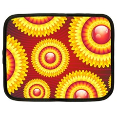 Floral Abstract Background Texture Netbook Case (xxl)