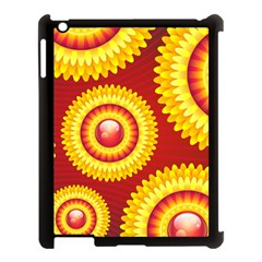Floral Abstract Background Texture Apple Ipad 3/4 Case (black)