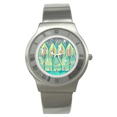 Background Landscape Surreal Stainless Steel Watch