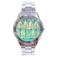 Background Landscape Surreal Stainless Steel Analogue Watch by Nexatart