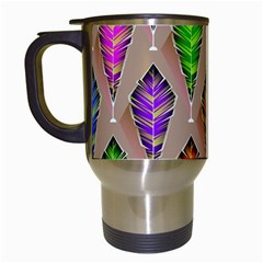 Abstract Background Colorful Leaves Travel Mugs (white) by Nexatart