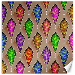 Abstract Background Colorful Leaves Canvas 20  X 20   by Nexatart