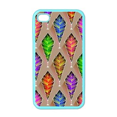 Abstract Background Colorful Leaves Apple Iphone 4 Case (color)