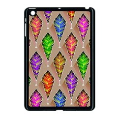 Abstract Background Colorful Leaves Apple Ipad Mini Case (black)