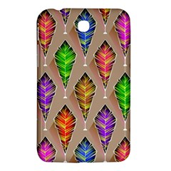 Abstract Background Colorful Leaves Samsung Galaxy Tab 3 (7 ) P3200 Hardshell Case