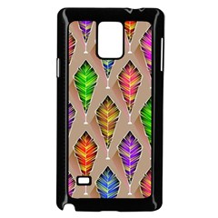 Abstract Background Colorful Leaves Samsung Galaxy Note 4 Case (black)