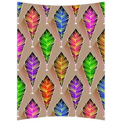 Abstract Background Colorful Leaves Back Support Cushion by Nexatart