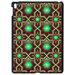 Pattern Background Bright Brown Apple Ipad Pro 9 7   Black Seamless Case by Nexatart