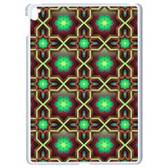 Pattern Background Bright Brown Apple Ipad Pro 9 7   White Seamless Case