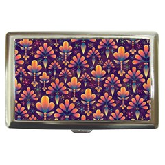 Abstract Background Floral Pattern Cigarette Money Cases by Nexatart