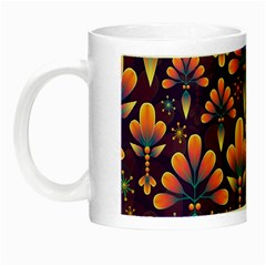 Abstract Background Floral Pattern Night Luminous Mugs