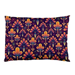 Abstract Background Floral Pattern Pillow Case