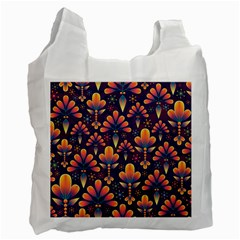 Abstract Background Floral Pattern Recycle Bag (one Side)