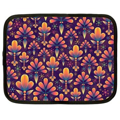 Abstract Background Floral Pattern Netbook Case (xl)  by Nexatart