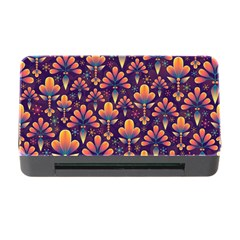 Abstract Background Floral Pattern Memory Card Reader With Cf