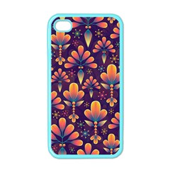 Abstract Background Floral Pattern Apple Iphone 4 Case (color)